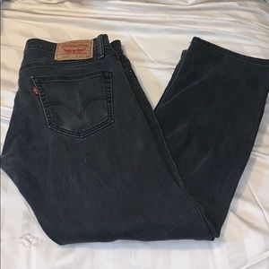 Levys 514 Black denim slim straight